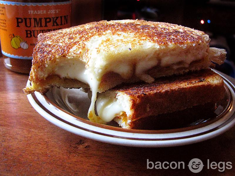 Pumpkin Butter Grilled Cheese