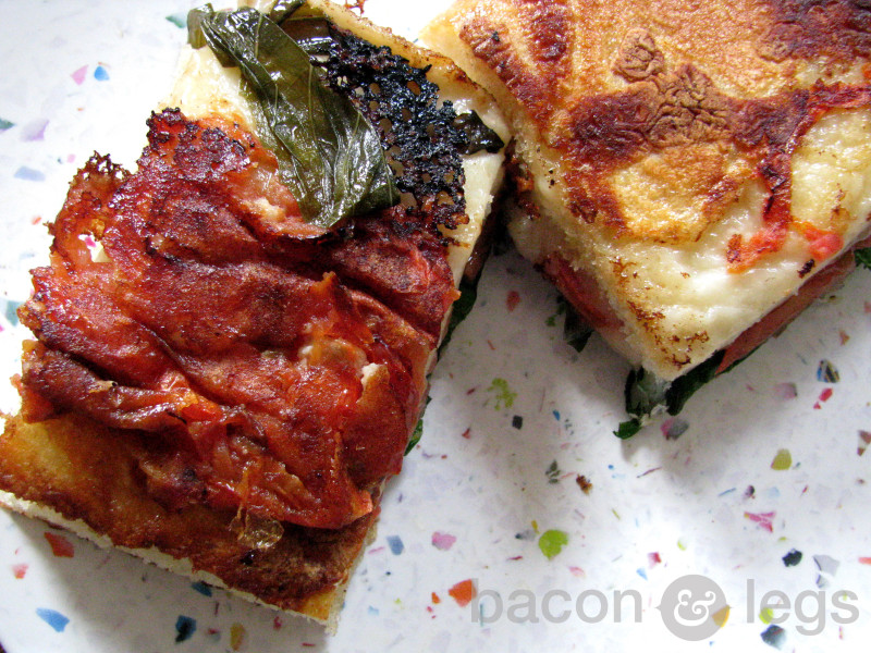 Caprese Grilled Cheese on Focaccia