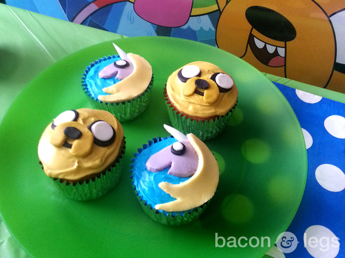 Jake and Rainicorn Cupcakes