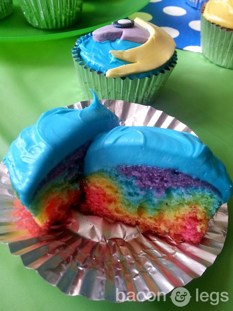 Rainbow Rainicorn Cupcakes
