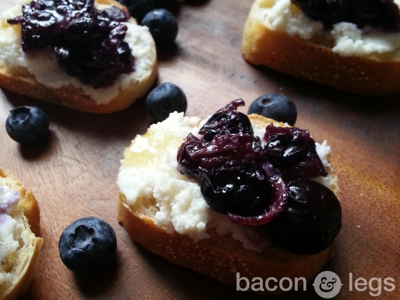 Bacon and Blueberry Crostini