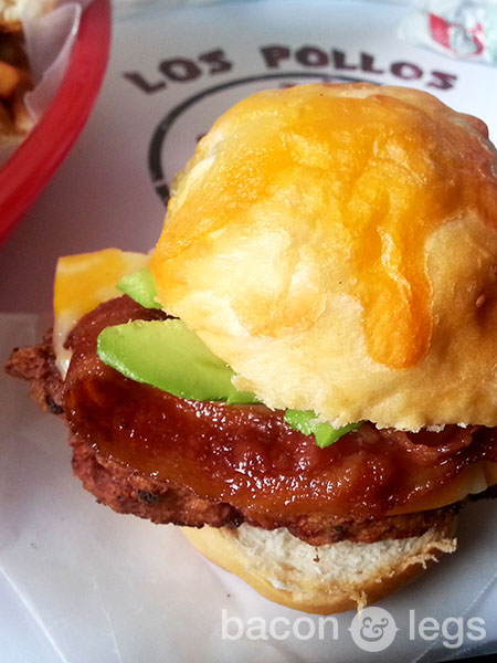 Southwest Chicken and Biscuit Sandwich from the Los Pollos Hermanos Value MenuSouthwest Chicken and Biscuit Sandwich