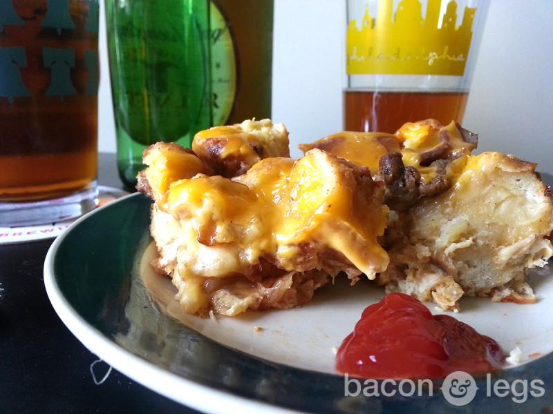 It's Always Yummy In Philadelphia: Cheesesteak Strata
