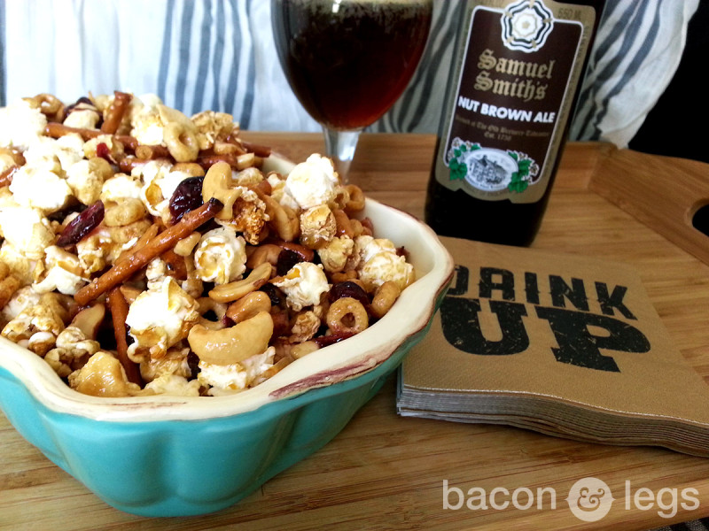 Sweet and Spicy Brown Ale Snack Mix
