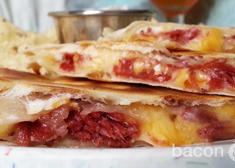 Corned Beef & Cabbage Quesadilla