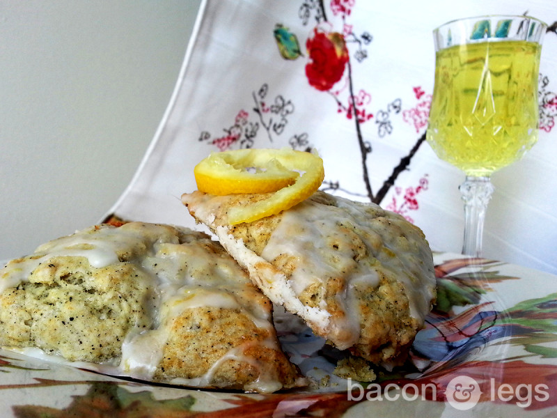 Earl Grey Scones with Limoncello Glaze