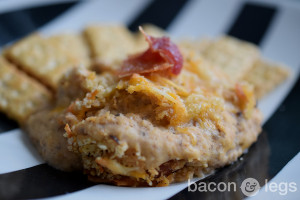 Bacon and Cheddar Black Eyed Pea Dip