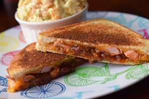 Pork 'n' Bean Grilled Cheese