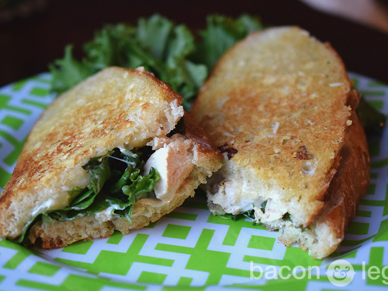 Chicken Caesar Salad Grilled Cheese