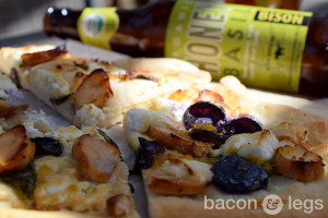 Bison Honey Basil Ale Chicken Flatbread