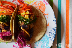 Fish Tacos and Rainbow Slaw