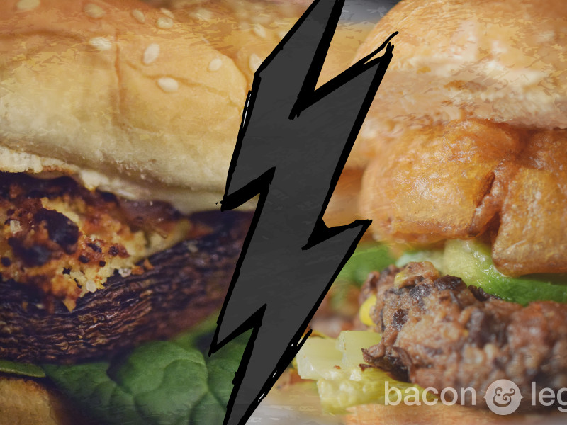 Batman v. Superman Veggie Burgers